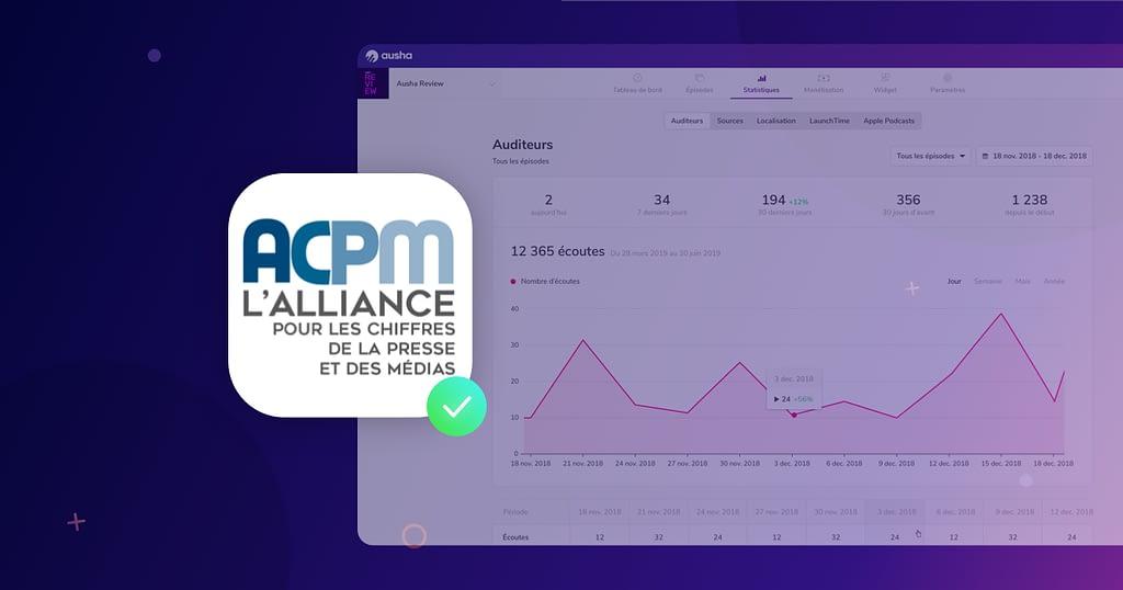 Ausha la seule plateforme française de podcasts labellisée par l'ACPM