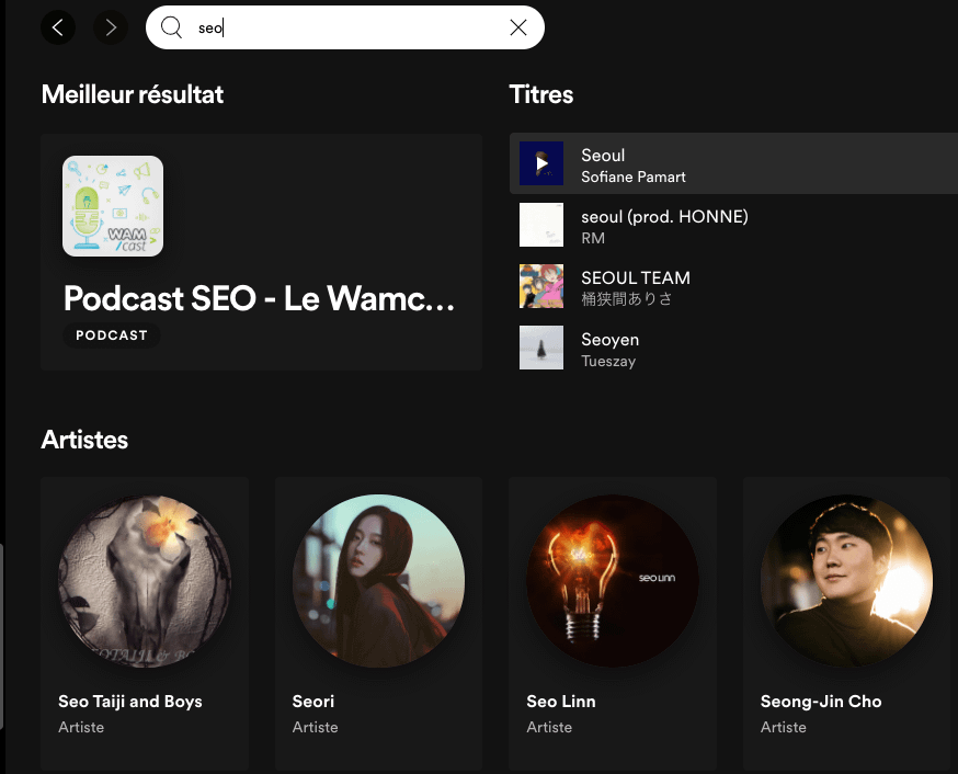 Résultat podcast Spotify