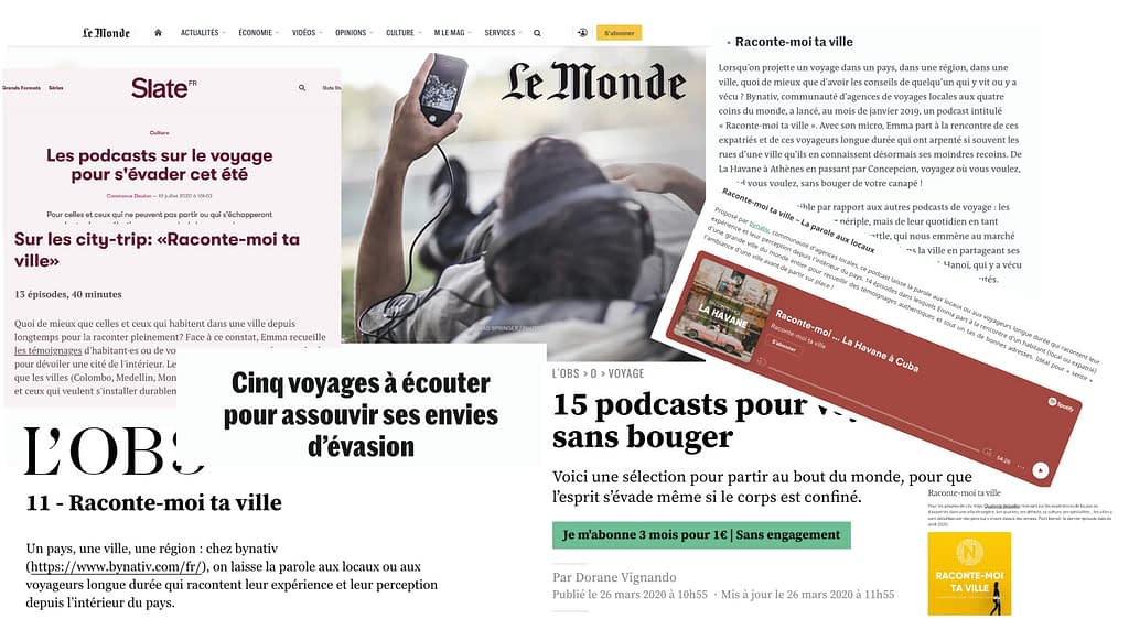 Articles de presse de Raconte-moi ta ville