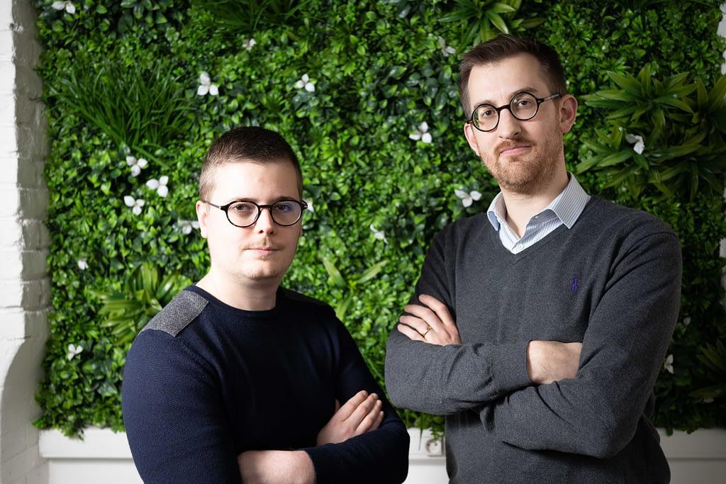Maxime Piquette et Charles de Potter, co-fondateurs d'Ausha