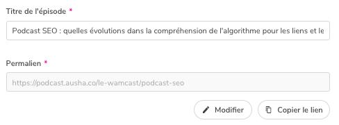 Titre d'un podcast